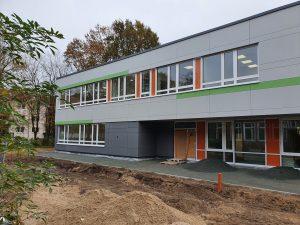 Blick auf den Neubau